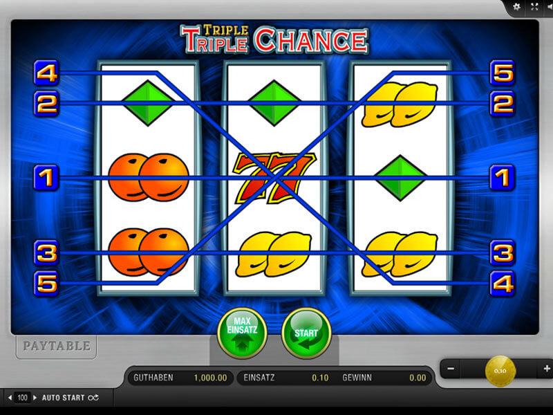 triple chance slot spielen